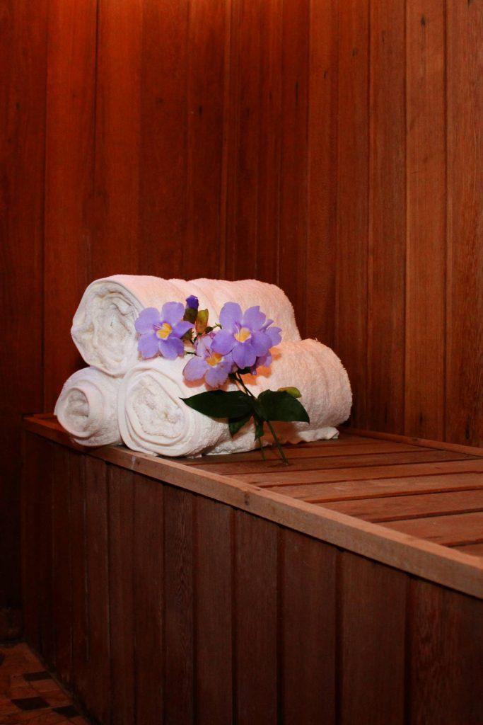 Sauna seca da Pegada da Onça